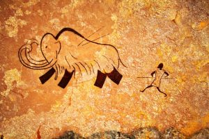 cave man painting
